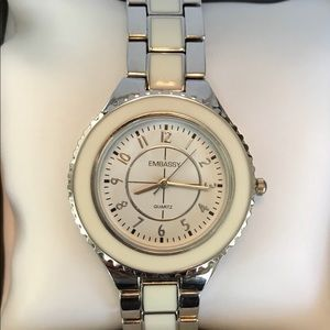 NEW! Embassy Watch white/silver color